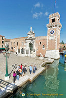 View of the Arsenale Porta Magna
