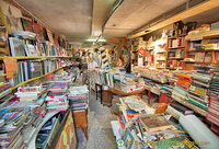 Inside Libreria Aqua Alta there are four rooms filled with books