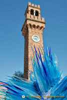 Murano clock tower in Campo Santo Stefano