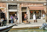 Checking out the shops in Murano