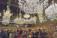 A very busy Murano glass showroom