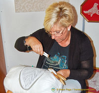 Lace-making demonstration