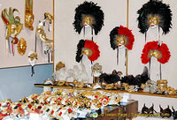 Some Venetian masks on display