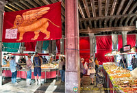 Flag with Venice's winged lion