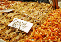 Canocce (mantis shrimps) is common on restaurant menus