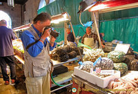 Tony taking snaps of the seafood