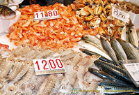 Range of seafood