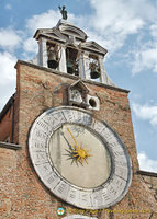 The famous clock face on San Giacomo