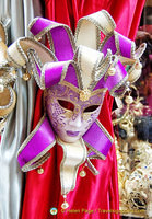 A brightly coloured Venetian mask