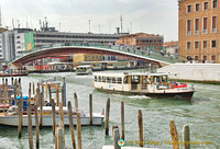View of the Grand Canal, Constitution Bridge and Piazzale Roma