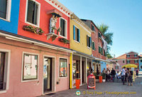 Burano's colourful buildings