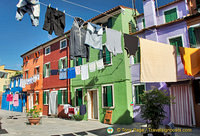 Colourful washing add to the colour of Burano