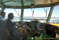 A view from the vaporetto captain's seat