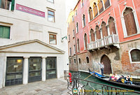 Marco Polo once lived in a house where the Teatro Malibran, the white building, stands