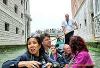 Riding down the Rio del Ponte dei Sospiri (small canal of the Bridge of Sighs)