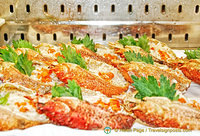 This Granseola Condita (crabmeat) is a specialty antipasto of the restaurant