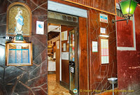 Entrance to Trattoria alla Madonna