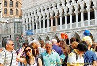 Crowds in front of the Palazzo Ducale
