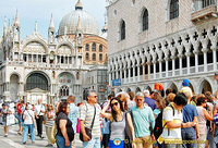 View of St Mark's Basilica and Palazzo Ducale from the Piazetta San Marco