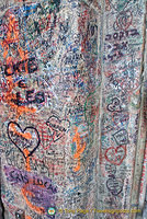 Love notes on the wall of Juliet's House