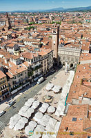 Aerial view of Piazza Erbe