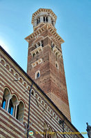 Torre dei Lamberti dominates the skyline of Verona