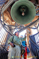 Tony counting down to the chime of Torre dei Lamberti's giant bell
