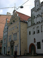 The Three Brothers, the oldest house in Latvia, Riga, Latvia