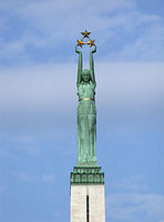 The three stars represent the three historic regions of Latvia - Kurzeme, Latgale and Vidzeme