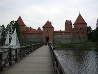 Bridge to main gatehouse of Trakai Castle
