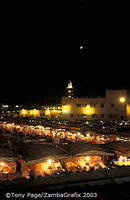 View of Djemaa el Fna Square from the Argana