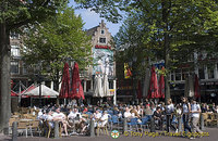 Outdoor cafes on Amsterdam's Leidseplein Square