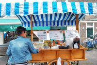 A herring snack stall