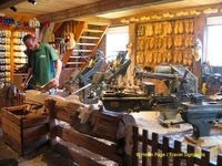 Craftsman making clogs