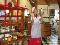 A presentation on traditional cheese making in the village