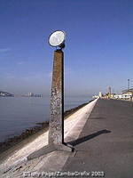Lisbon waterfront sculpture