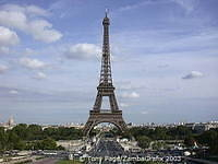 View from the Trocadero - The Eiffel Tower