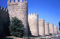 The city walls of Avila