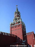 70m high Saviour's Tower used to be the main entrance to the Kremlin