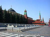Red Square with its red buildings