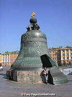This 200-tonne Tsar Bell is the largest in the world.  Just the broken off section weighs 11-tonnes.