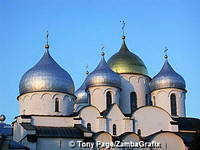 St Sophia Cathedral has five onion domes