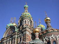 Church on Spilled Blood stands on the spot where Tsar Alexander II was murdered