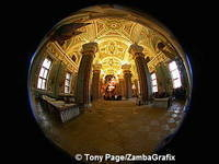 Fish-eye view of Peter and Paul Cathedral