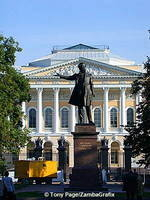 Pushkin in front of the Russian Museum, Arts Square - St Petersburg