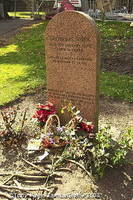 Grave of Greyfriars Bobby - The people of Edinburgh fed him until his death in 1872 [Greyfriars Kirk - Edinburgh - Scotland]