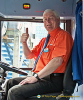 A very friendly Edinburgh sightseeing bus driver