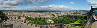 A panoramic view of Edinburgh from Edinburgh Castle