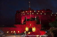 See the changing colours of Edinburgh Castle at the Military Tattoo