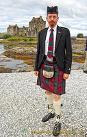 Not all men in kilts are Scots - a lovely German tour guide
